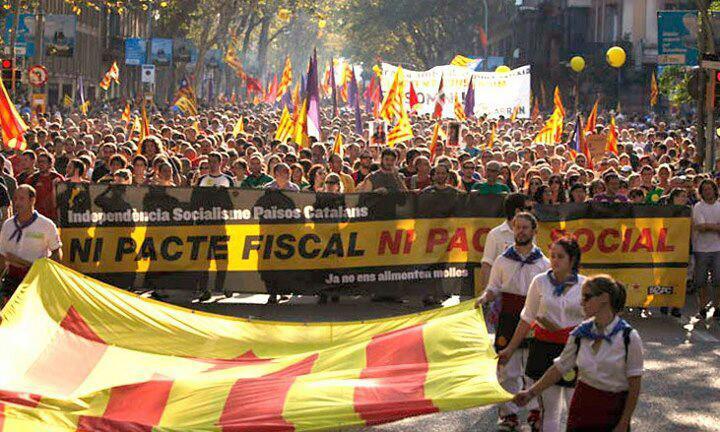 Manifestació de l'11 de setembre a Barcelona